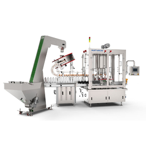 360° clamping and screwing Capping Machine for round cap with cap sorter